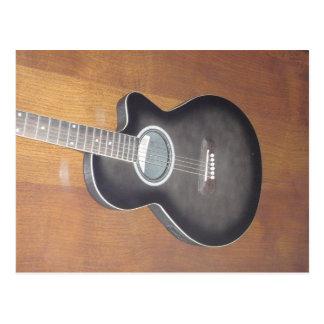 Guitarra elétrica acústica cartão postal