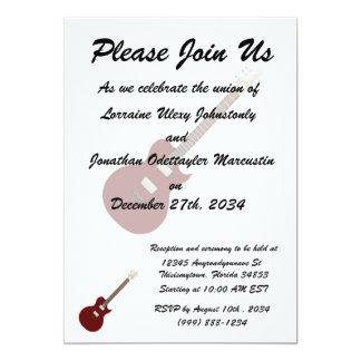 guitarra elétrica burgundy.png convite 12.7 x 17.78cm