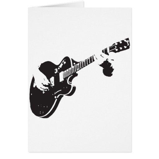 Guitarra elétrica cartao