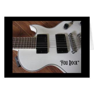 Guitarra elétrica cartões