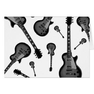 Guitarra elétrica cartão comemorativo