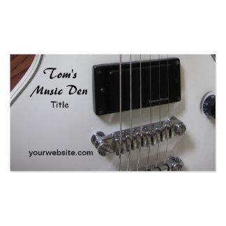Guitarra elétrica cartão de visita