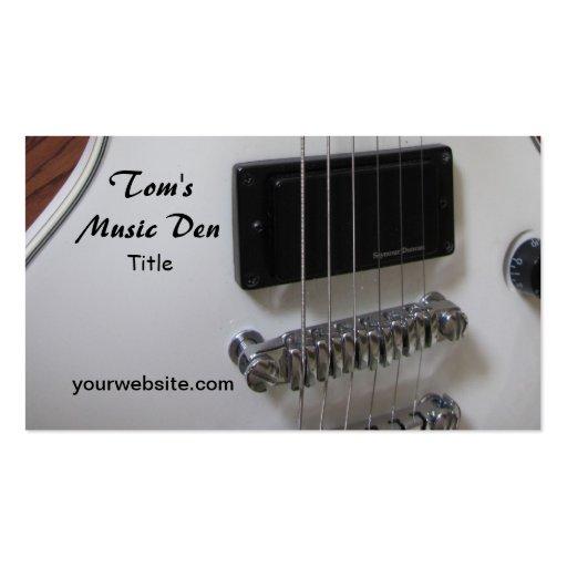Guitarra elétrica cartao de visita
