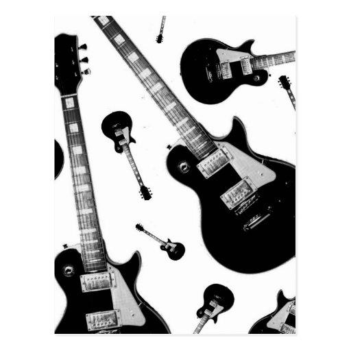 Guitarra elétrica cartões postais
