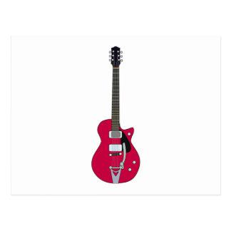 Guitarra elétrica cartao postal