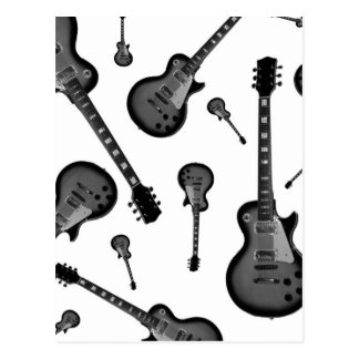 Guitarra elétrica cartoes postais