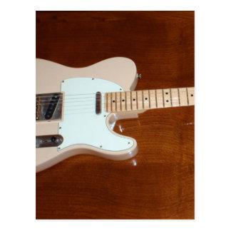 Guitarra elétrica cartão postal