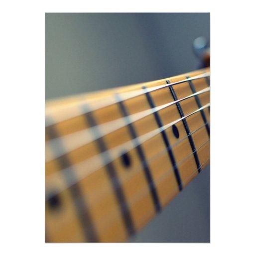 Guitarra elétrica convites personalizados