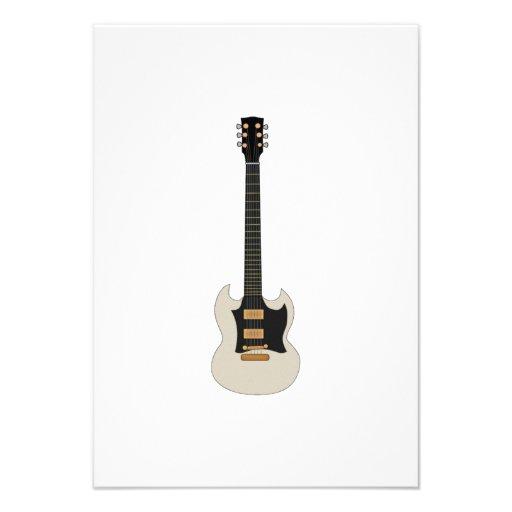Guitarra elétrica convite personalizados
