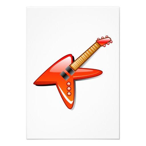 Guitarra elétrica convites personalizado