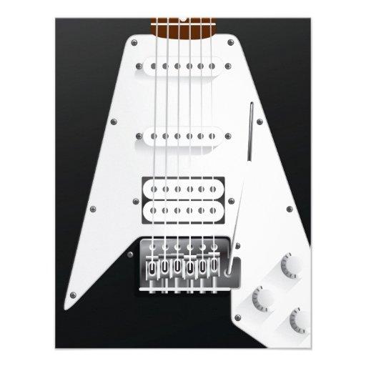 Guitarra elétrica convite personalizado