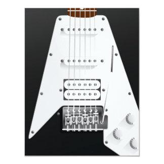 Guitarra elétrica convite 10.79 x 13.97cm