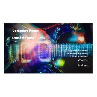 Guitarra elétrica de ardência cartão de visita