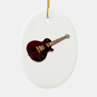 Guitarra elétrica do vintage enfeites de natal