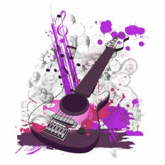 guitarra elétrica feminino do grunge escultura foto