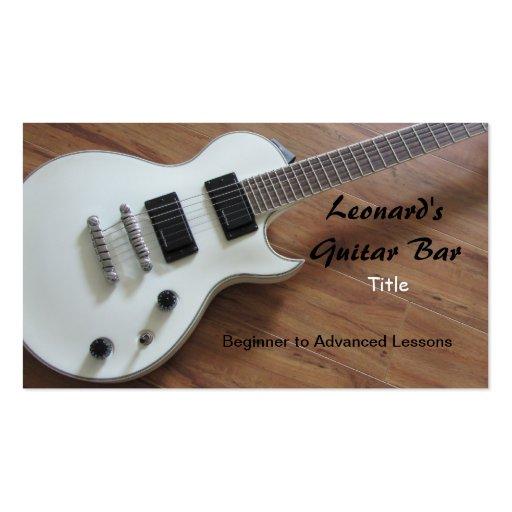 Guitarra elétrica - lições cartoes de visita