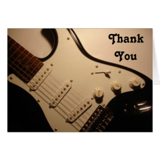 Guitarra elétrica, obrigado notar cartão de nota