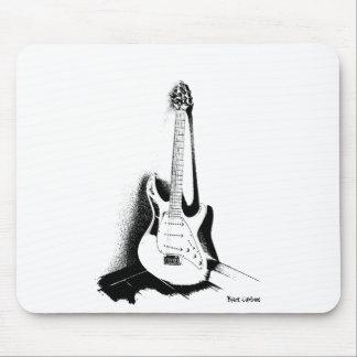 Guitarra elétrica preta & branca - Mousepad