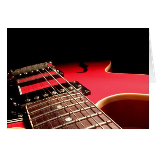 Guitarra elétrica vermelha cartoes