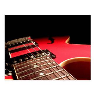Guitarra elétrica vermelha cartao postal