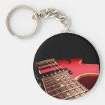 Guitarra elétrica vermelha chaveiro