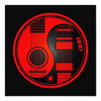 Guitarra elétricas acústicas vermelhas e pretas convites personalizados