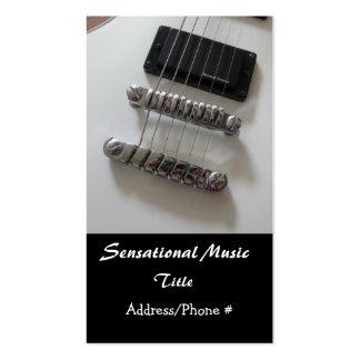 Guitarra elétricas cartões de visitas