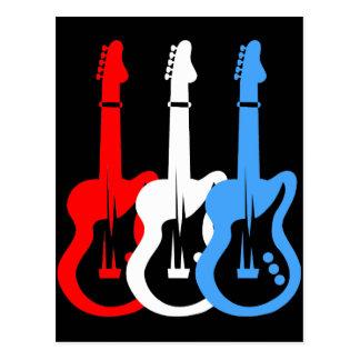guitarra elétricas cartoes postais