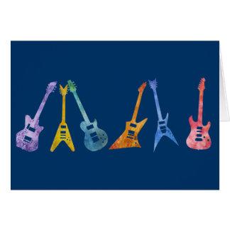 Guitarra elétricas em cores elétricas cartão