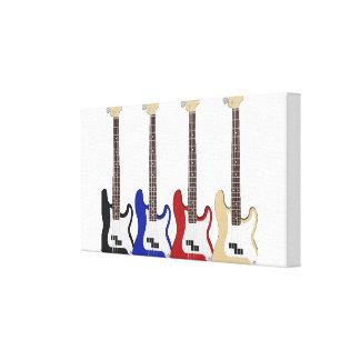 Guitarra legal na lona esticada impressão em tela