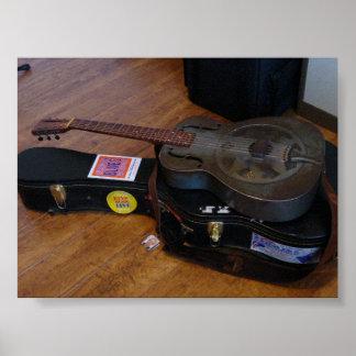 Guitarra nacional velha de Duolian Pôster