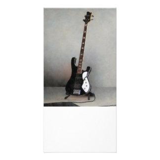 Guitarra preto e branco cartões com fotos