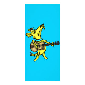 Guitarra que joga o cão 10.16 x 22.86cm panfleto