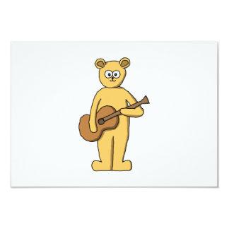 Guitarra que joga o urso convite 8.89 x 12.7cm