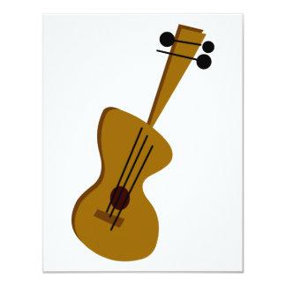 Guitarra retro do anos 50 convite personalizado