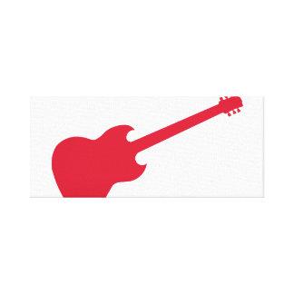 Guitarra vermelha na lona envolvida impressão de canvas esticadas