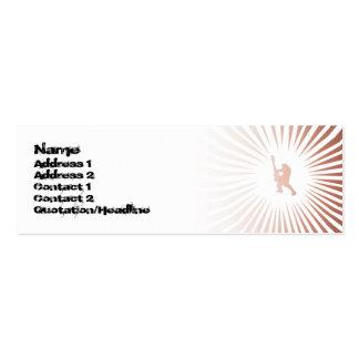 Guitarrista da paz - magro cartão de visita skinny