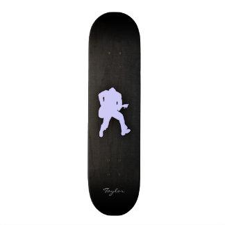 Guitarrista do azul da lavanda skate