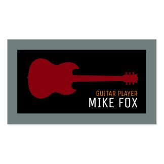 guitarrista do profissional da música cartão de visita
