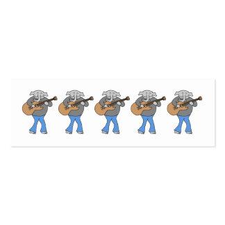 Guitarrista. Elefante que joga a guitarra elétrica Cartão De Visita Skinny