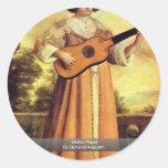 Guitarrista por Quesnel Agostinho Adesivos Redondos