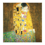 Gustavo Klimt a arte Nouveau do beijo Impressão Em Tela Canvas