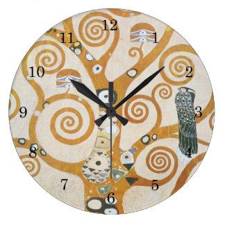 Gustavo Klimt a árvore da arte Nouveau da vida Relógio Grande