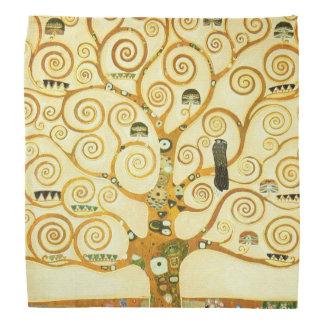 Gustavo Klimt a árvore da arte Nouveau do vintage Pano Para Cabeça
