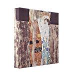 Gustavo Klimt - as três idades da mulher Impressão De Canvas Envolvida
