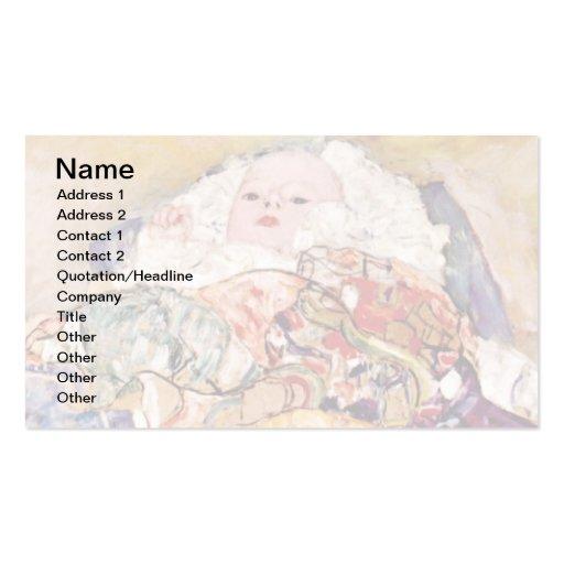 Gustavo Klimt - bebê Modelos Cartoes De Visitas