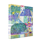 Gustavo Klimt - igreja de Wolfgang da rua Impressão De Canvas Envolvida