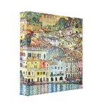 Gustavo Klimt - Malcena no Gardasee Impressão De Canvas Esticada