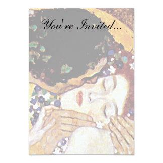 Gustavo Klimt - o beijo - arte Nouveau do vintage Convite 12.7 X 17.78cm