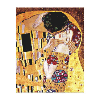 Gustavo Klimt - o beijo Impressão Em Canvas